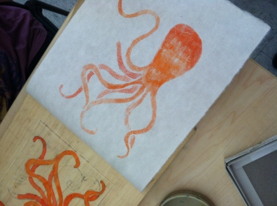 Octopus print my Katie Boulter-Dimock